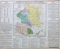 Myrica gale antique maps and charts original vintage rare geographical and historical map of poland and hungary no 55 antique maps and publicscrutiny Image collections