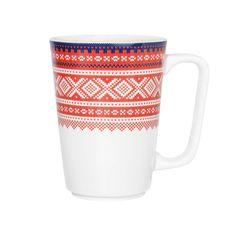 Maud krus 2pk - 26cl RØD/BLÅ m/gaveeske - MARIUS – Hyttefeber Imperial Brand, Yummy Cookies, Mugs, Tableware, Pattern, Gifts, Design, Products, Dinnerware