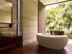 bathtub + palm trees