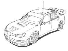 Subaru Impreza STi WRC Outline by OutcastOne.deviantart.com on @deviantART