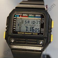 Casio BM-100W altimetre barometre Stylish Watches, Cool Watches, Watches For Men, Casio Vintage Watch, Casio Watch, Retro Watches, Vintage Watches, Casio G Shock, Digital Watch
