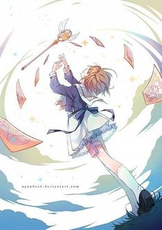 Find images and videos about anime, sakura and fan art on We Heart It - the app to get lost in what you love. Cardcaptor Sakura, Syaoran, Anime Sakura, Manga Anime, Sakura Sakura, Kawaii Anime, Manga Font, Sakura Card Captors, Illustration Manga
