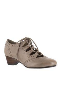 Bella-Vita Stone Posie Ghillie Tie Shoe