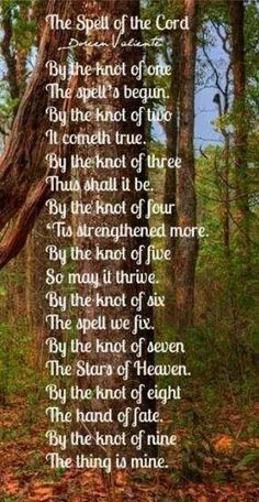 Knot Spell #bos #wicca #witchcraft