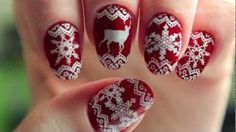 Winter Sweater Nails, via YouTube.
