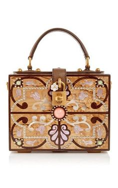 Plexi intricate cut out box bag by DOLCE & GABBANA Now Available on Moda Operandi