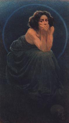 Giorgio Kienerk - L'enigma umano, trittico 1900. Il Silenzio