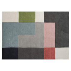 Tetris+Matto+200x300cm,+Powder,+Linie+Design