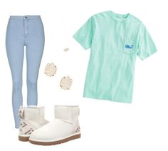 """#10"" by brooke4202 on Polyvore featuring Topshop, UGG Australia, Vineyard Vines and Kendra Scott"