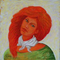 """""""Ginevra's portrait"""", acrilyc (cm 40x40)"""