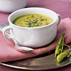 Healthy Fresh Pea Soup with Mint Recipe