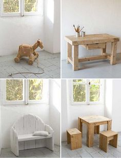 rustic kids furniture by Katrin Arens