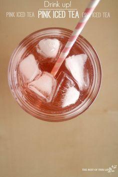 Valentine's Day Pink Iced Tea
