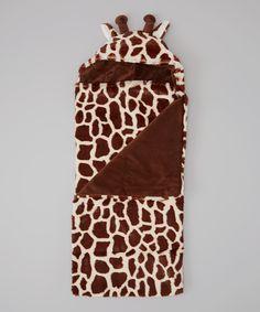 Brown Giraffe Hooded Blanket
