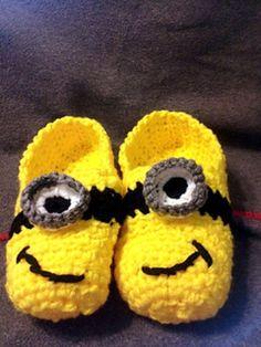 Ladies Minion inspired slipper crochet by JessicasCrochetStuff