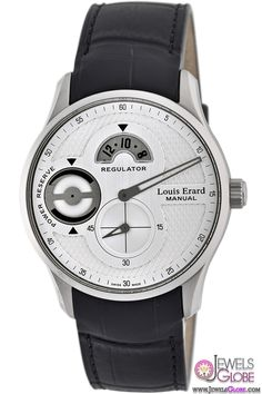 Louis Erard Mens Silver Dial Power Reserve Regulator Watch