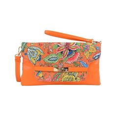 Women's Mellow World Eden Clutch (€24) ❤ liked on Polyvore featuring bags, handbags, clutches, orange, handbags crossbody, faux leather purses, purse crossbody, crossbody handbags and wristlet crossbody