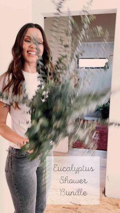 Vogue Home, Eucalyptus Shower, Boho Bathroom, The Fresh, New Homes, Herbal Magic, House Design, Flower Arrangements, Routine