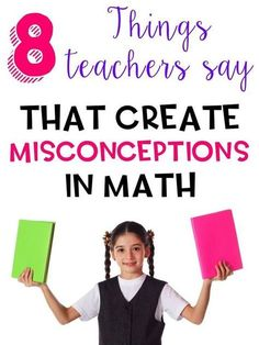 Have you ever taught a math concept where you had to spend as much time undoing misconceptions as you do teaching new concepts? I think that we often inadvertently teach misconceptions when we offer our students tricks and shortcuts to. Read More & Math Teacher, Math Classroom, Teaching Math, Teaching Ideas, Teacher Stuff, Classroom Ideas, Teaching Strategies, Stem Teacher, Teacher Tools