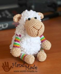 Mathilde Sheep - Free Crochet Pattern - Pattern In Russian - See http://www.ingeniousbyme.com/crochet/sheep-mathilde-free-crochet-pattern/ For English Translation - (world-hmade)