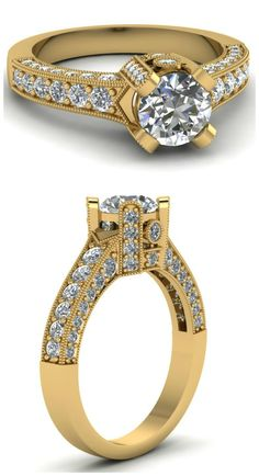 Wow!! Check out the details on this ring. Also available in white and rose gold. Beautiful!!