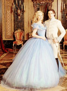 Richard Madden and Lily James in Cinderella