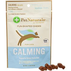 Pet Naturals Calming Cat Soft Chews. Worked really well for my cat and she loves them.
