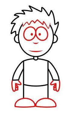 How to draw a simple cartoon boy