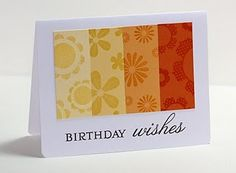 card with stamping & paper strips..super easy to mail.
