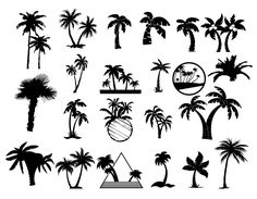 ▶【Silhouettes of palm trees vector】❶Thousands FREE vector graphics ❷AI EPS format ❸Don't waste time for search ➜ download ☆ VectorPicFree!