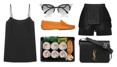 """""""Untitled #3613"""" by michelanna on Polyvore featuring Equipment, Fendi, Tod's, E L L E R Y and Yves Saint Laurent"""