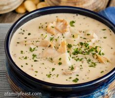 New England Clam Chowder - A Family Feast // this award-winning recipe took first place in the Newport Chowder Festival