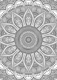 Coloring Book for Me and Mandala Unique Didzioji Mandalu Knyga Coloring Pages for Adults Free Printables Mandala Art, Mandala Design, Mandalas Painting, Mandalas Drawing, Mandala Coloring Pages, Coloring Book Pages, Printable Coloring Pages, Coloring Sheets, Colouring In