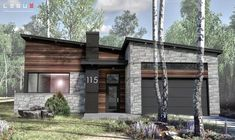ideas home design minimalist architecture facades Small Modern House Plans, Modern House Design, Minimalist Architecture, Facade Architecture, Modern Exterior, Exterior Design, One Level House Plans, Industrial House, Industrial Farmhouse