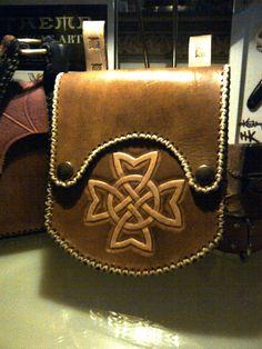 Leather celtic bag for info.. info@perroleatherworks.com