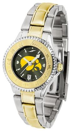 NCAA Iowa Hawkeyes Competitor Ladies' Two-Tone AnoChrome Watch