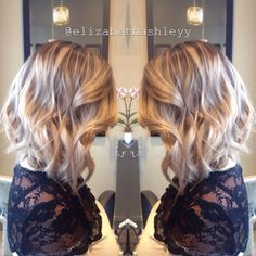 Rooty neutral blonde with an angled lob