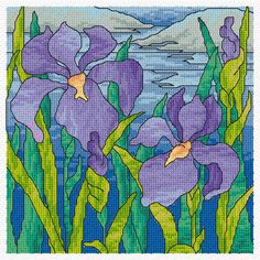 Stained Glass Designs   Iris Stained Glass Pattern   Stained Glass Pattern Club