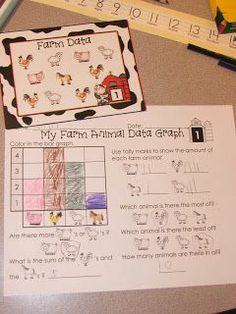 Freebie   farm, graphs, prek, kindergarten, math #Christmas #thanksgiving #Holiday #quote