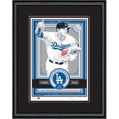 "Yasiel Puig Los Angeles Dodgers Sports Propaganda 18"" x 24"" Framed Player Serigraph - $129.99"
