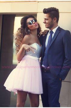 Pink Homecoming Dresses, Short Prom Dress