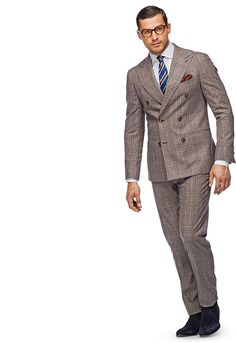 Suitsupply - Brown Check Washington Suit | Style - Suits | Pinterest