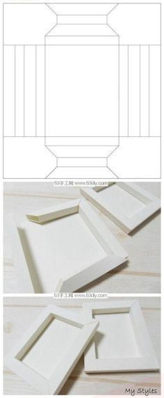 PAPIER-RAHMEN-FORM Best Picture For Frame Crafts with flowers For Your Taste You are looking for something, and it is going to tell you exactly what you are looking for, and you didn't Diy Gift Box, Diy Box, Diy Gifts, Origami Paper, Diy Paper, Paper Art, Papier Diy, Paper Frames, Paper Boxes