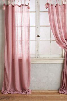 Cotton Tie-Top Curtain - anthropologie.com