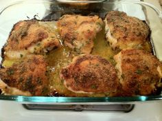 Baked Chicken Thighs Recipe - Food.com   - I wanted a different recipe from my usual and these were actually really good!