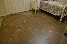 Faux tile-painted floor