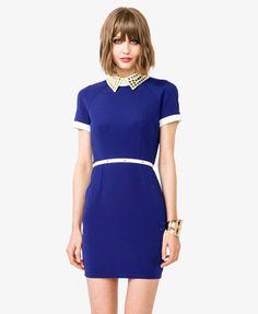Studded Collar Sheath Dress | FOREVER21 - 2040495009