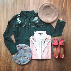 Outfits – The Other Sparrows Embroidery Fabric, Floral Embroidery, Ruffle Collar, Collar Shirts, Sparrows, Fashion Outfits, Long Sleeve, Sleeves, Model