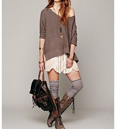 Free people vintage style. love the laid back slouchy look too