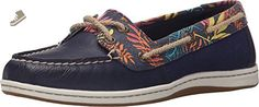 Sperry Top-Sider Women's Firefish Seaweed Print Boat Shoe,Navy/Pink Multi,US 5.5 - Sperry sneakers for women (*Amazon Partner-Link)
